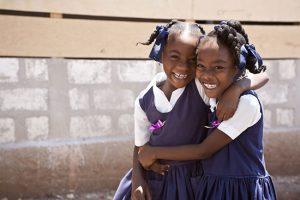 Haitian schoolgirls